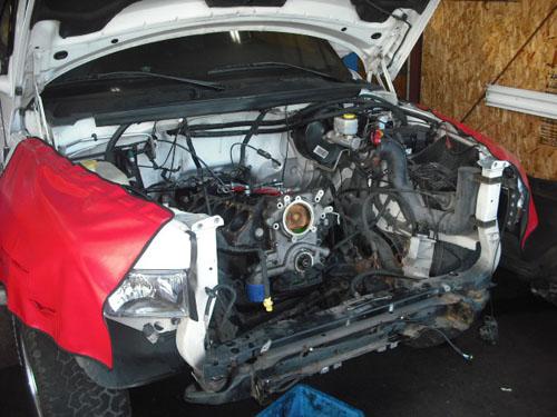 ダッジ ラムピックアップV10 修理 エンジン載せ換え