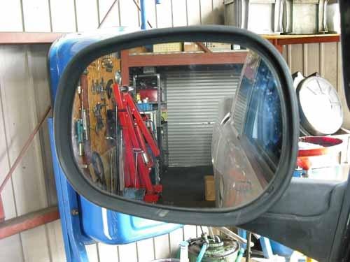 ダッジ ラムトラック ドアミラーガラス 曲面加工 カスタム
