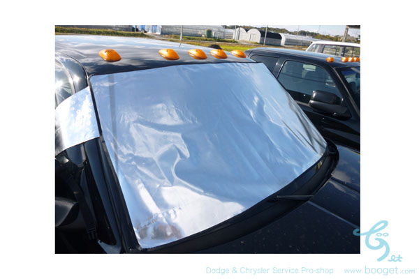 冬の凍結防止 フロントガラスカバー