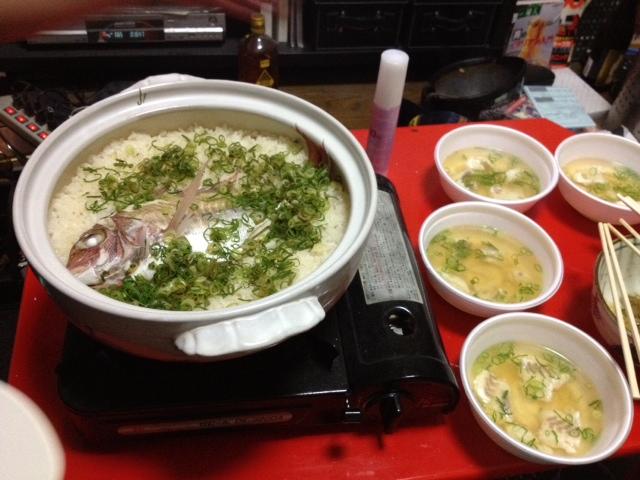 鯛飯 & アラ汁