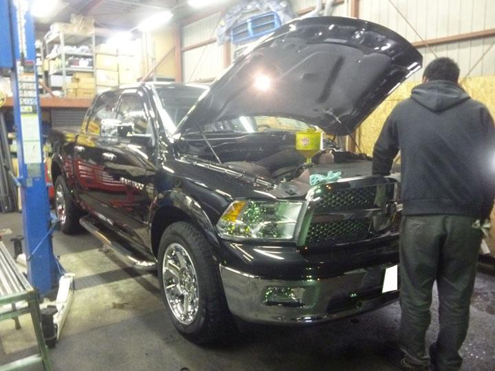 2011年 ダッジラムトラック納車準備