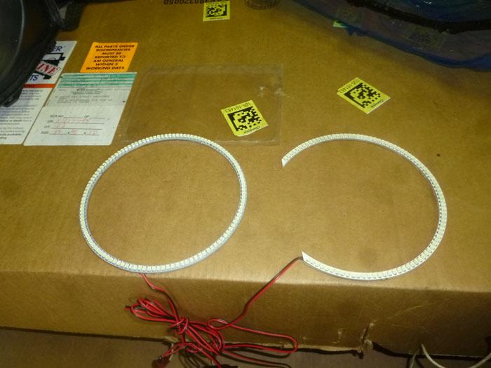 ダッジ ラムトラック ヘッドライト LEDリング加工