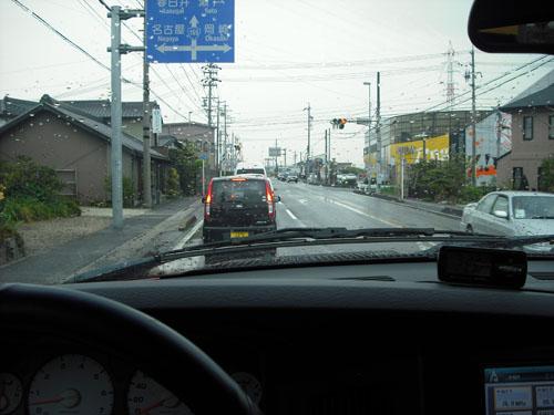 いつものラム ピックアップの車窓。