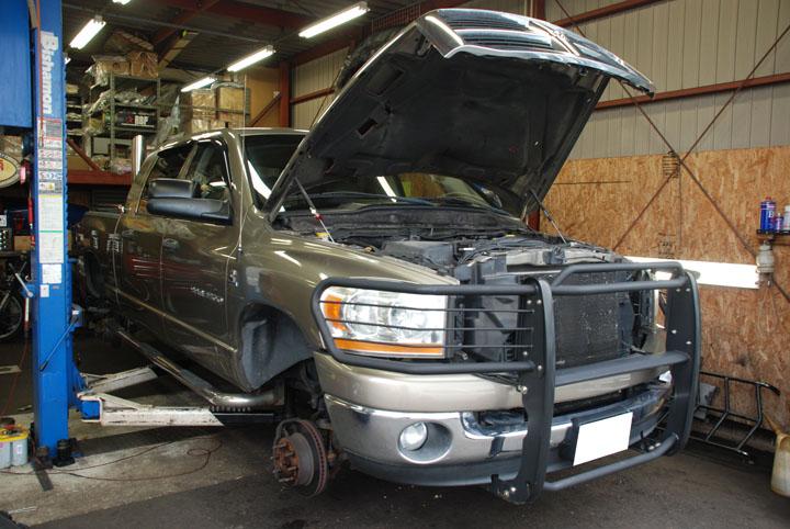 ハマー H1 トランスファーオイル漏れ修理