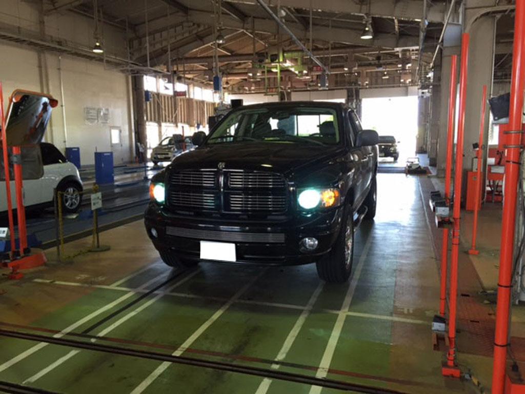 ダッジラムトラック車検 タイヤ交換 275-60-20