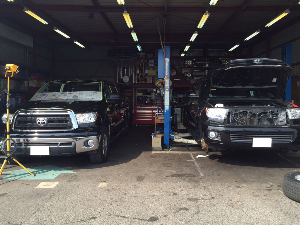 トヨタ タンドラ磨き セコイア納車整備