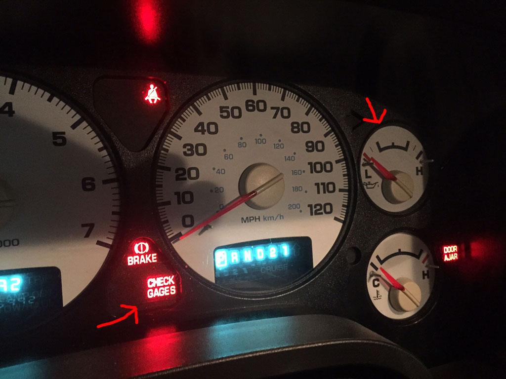 05y ダッジラムトラック オイルプレッシャー不良