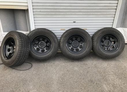 冬に向けて準備 ダッジラムトラック用 スタッドレスホイール&タイヤ 中古